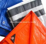 Le plastique UV enduit de Tarps de PE de bâche de protection de PE de tissu de résistance à l'eau fournit des oeillets la bâche de protection Tarps