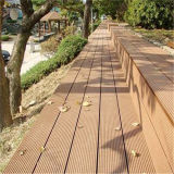 140*25mm extérieur en bois composite en plastique laminés WPC Decking
