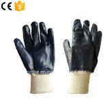 Дешевые цены хлопка Джерси гильзы нитриловые перчатки с покрытием в полной мере