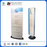 Gabinete modular personalizados para parede K Assinar Sistema curvo para placas de hotel