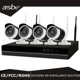 8CH à prova de bala Kit NVR Wireless IP Câmara de segurança CCTV