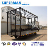 15t Bagagem e Transporte de Carga Drawbar Full Carrier Trailer