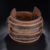 Bracelet en cuir antique bon marché en gros du poignet OEM/ODM