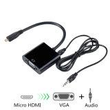 Mikro-HDMI zu VGA mit Audiokonverter