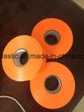 Cinta que cultiva un huerto del color anaranjado de la cinta del lazo del PVC