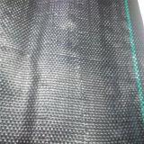 100% virgem novo tapete de plantas daninhas preto com uma linha verde