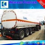 オイルかミルクまたは化学半輸送3axlesのアルミ合金のトレーラーのタンカー