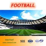 サッカーの総合的な泥炭、フットボールの人工的な芝生、一義的なヤーンの構造、速い山の回復、U/Vの抵抗