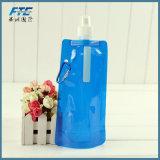 Su ordinazione piegare in su la bottiglia di acqua pieghevole della bottiglia di acqua