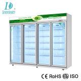 Boisson de qualité supérieure de refroidissement par air Afficher frigo avec Danfoss