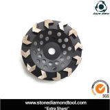 콘크리트를 위한 분단된 컵 바퀴를 가는 화살 모양