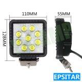 lumière fonctionnante automatique de travail de la lampe DEL de 27W 4.3inch Epistar DEL