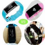 Smart bracelete de silicone com a freqüência cardíaca e o Monitor de Pressão Arterial