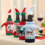 적포도주 병 덮개 4 모형의 새로운 고급 뜨개질을 한 크리스마스 술병 세트