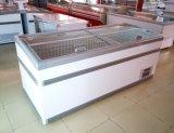 Heißer verkaufenkombinierter Typ R404A Insel-Gefriermaschine für Tiefkühlkost