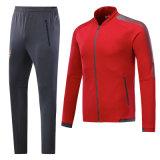 通気性の大人および子供の資金帯電防止赤く長いSleeceのフットボールのジャケットを乾燥すること容易