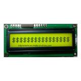 16 x 1 modulo dell'affissione a cristalli liquidi dei caratteri, lampadina giallo verde