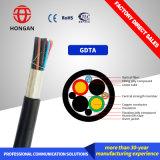 Câble hybride avec unité de fibre optique et du boîtier électrique