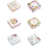 高品質および安価な正方形の中間のサイズのビスケットの錫ボックスのハンドメイドのクッキーの包装ボックス、ギフトの収納箱、キャンデーの錫ボックス