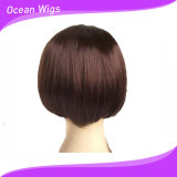 Black Women (LW-010)のための普及したFashion Style Synthetic Lace Front ShortボブWigs