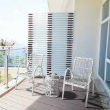 Estrutura de alumínio de boa qualidade Mobiliário de exterior Jardim Mesa Redonda em PE Wicker