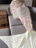 인어 테일 담요가 2017명의 최신 도매 양털 성숙한 아이들에 의하여 뜨개질을 했다