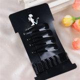 12 parti del metallo di capelli della clip imballata scheda Accessoires (JE1032) di Pin