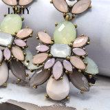 Brinco de gota da jóia da forma da indicação das mulheres da flor do Rhinestone de Boémia