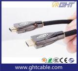 Chapado en oro de 1,2 m de cable HDMI de alta calidad de nylon trenzado
