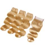 Bande brésilienne de cheveu d'onde de corps de la couleur 613 dans la prolonge brésilienne personnalisée par trame de cheveux humains de cheveu
