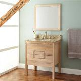 Fed-312 armários de banheiro de madeira de borracha modernos das vaidade do banheiro de um revestimento de 30 polegadas