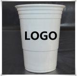 주문을 받아서 만들어진 로고를 가진 처분할 수 있는 16oz PS 플라스틱 빨간 당 컵