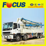 工場は37mのコンクリートブームポンプトラックを提供した