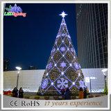 Decoração exterior colorido gigante artificial de PVC luz de árvore de Natal
