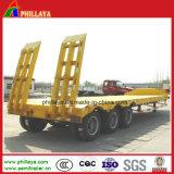 3 EIXOS 60 toneladas de cisne Cama Baixa semi reboque para transporte da escavadeira