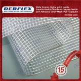 Película transparente lona revestida de PVC 550gsm