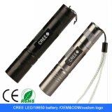 Kampierende 18650 nachladbare Q5 5W LED Aluminiumlegierung-Minitaschenlampe