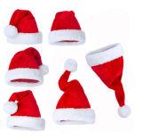 Kundenspezifische Qualität Aults Weihnachtssankt-Hut-Weihnachtsschutzkappe
