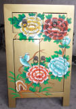 Mobiliário antigo pintado pequeno armário de madeira Lwb401