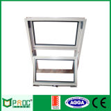 Fenêtre coulissante verticale en aluminium double vitrage