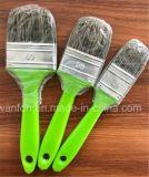 Смешивание покрашенной пластичной щетки краски ручки синтетическое и чисто щетинки