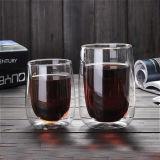 Gouttes d'eau tasse tasse de café en verre de lait double paroi en verre borosilicaté élevé Cup