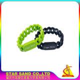 Bracelets en Silicone de forme irrégulière, le logo personnalisé rempli de couleurs Bracelets en Silicone