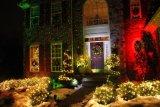 Rote grüne im Freienweihnachtslaserlichte, Landschaftslaserlichte