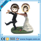 Polyresin Double Wedding Custom Talk Wobbler Bobble Head (HG-002)
