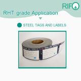 Pet troqueladas en Blanco Adhesivo etiquetas de códigos de barras, etiquetas de alta temperatura