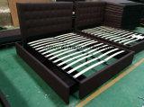 Ткань спальни с двуспальными кроватями платформы мебель без выдвижного ящика (ПР)17171