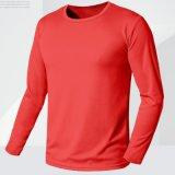 Cusatomize 남자의 건조한 적합 t-셔츠를 훈련하는 긴 소매 캐주얼 셔츠 체조 스포츠