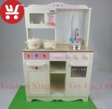 Комплект кухни новой конструкции деревянный для младенца популярной деревянной кухни малышей установленного Toys игрушки кухни способа
