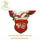 習慣はスポーツの円形浮彫りのリボンのドラゴンのロゴの中国のコップメダルをからかう
